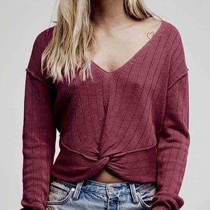 """New Free People """"got me twisted sweater"""" sweater"""